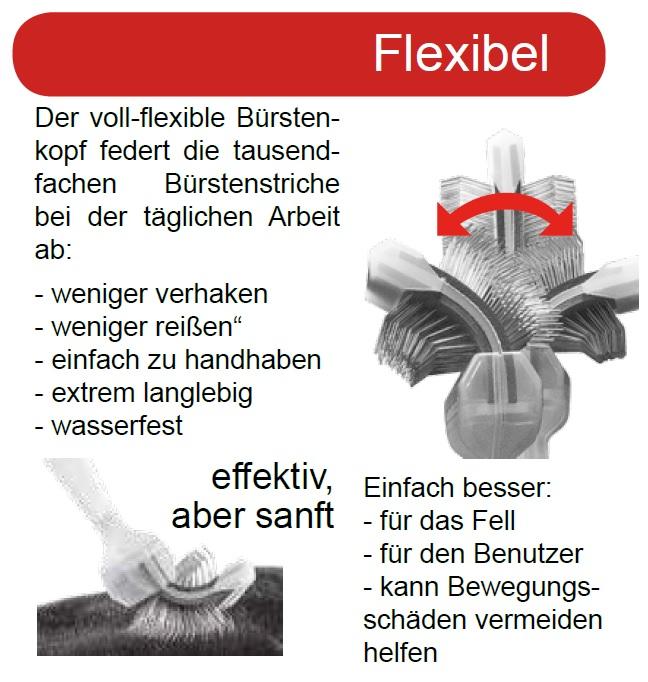 ActiVet Bürste sind flexibel